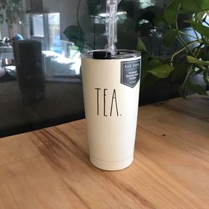 Rae Dunn insulated tumbler with straw and lid